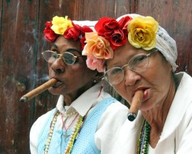 two women cigar